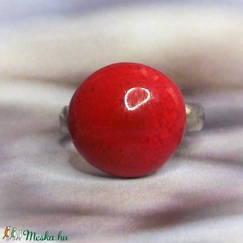 Piros kerámia gyűrű kislányoknak Gyermeknapra - Gyermek ékszer - Gyermekgyűrű  - Meska.hu