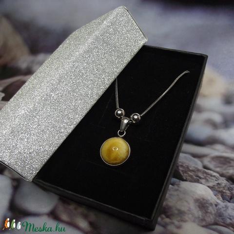 Nemesacél kígyónyaklánc sárga kerámia medállal elegáns díszdobozban Ajándék nőknek lányoknak  - Meska.hu