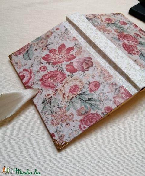 Barokk Rózsa- egyedi napló (kezmuvesnaplok) - Meska.hu
