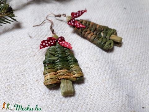Piros masnis fülbevaló karácsonyra  (kezmuvesporta) - Meska.hu