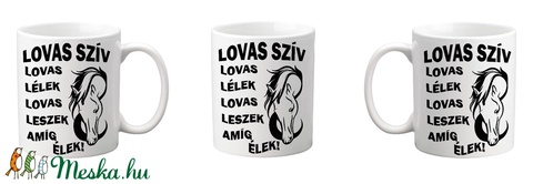 Lovas szív bögre (kicsiati) - Meska.hu