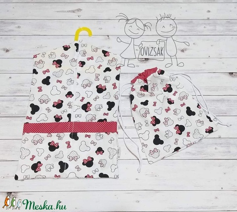Minnie mintás ovis vagy kisgyermek ágyneműhuzat szett + ovizsák tornazsák szett - játék & gyerek - Meska.hu