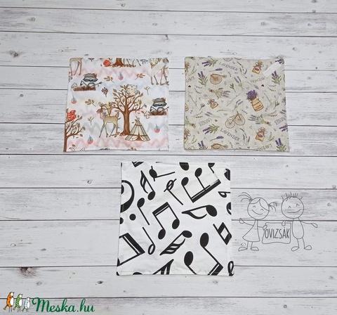 Textil szavéta / újraszalvéta, többféle minta - Meska.hu