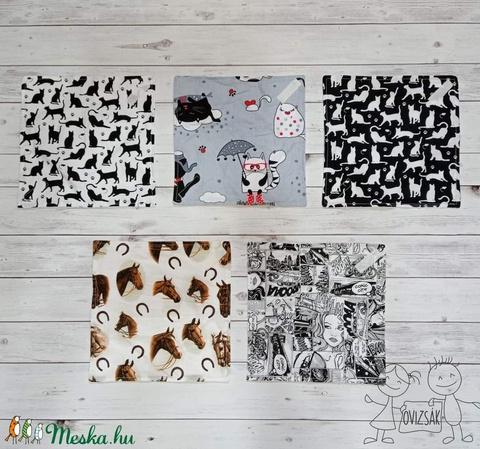 Textil szavéta / újraszalvéta, többféle minta - zerowaste / nowaste - táska & tok - Meska.hu