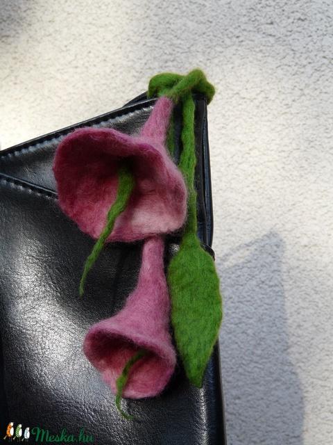 Nemez virág táska dísz (kikeletnemezdekor) - Meska.hu