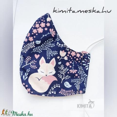 Női maszk, szájmaszk, arcmaszk - rókás rózsaszín (Kimita) - Meska.hu
