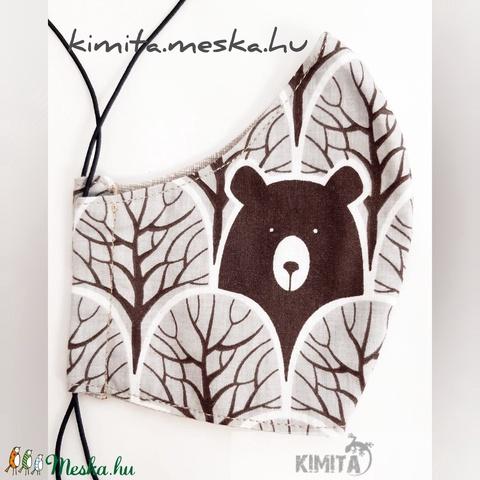Női maszk, szájmaszk, arcmaszk - medve/maci (Kimita) - Meska.hu