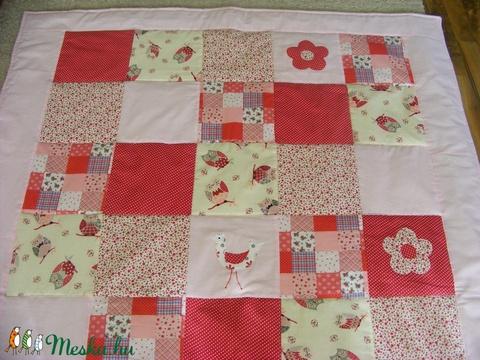 patchwork  takaró, piros-pöttyös, bagoly mintás (kincsesmomka) - Meska.hu