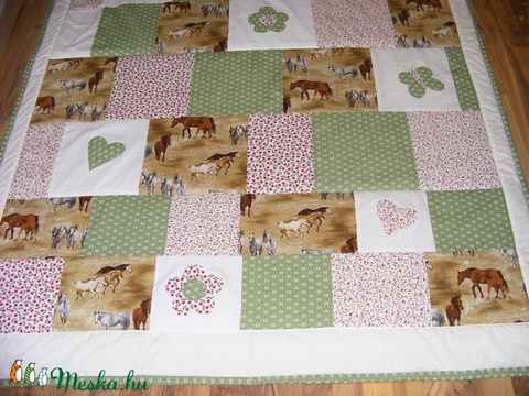 patchwork takaró lovas mintás (kincsesmomka) - Meska.hu