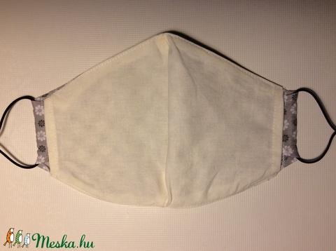 Egészségügyi szájmaszk, arcmaszk szürke kisvirágos (kincsesmomka) - Meska.hu