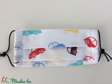 Gyerek szájmaszk autó mintával (kincsesmomka) - Meska.hu