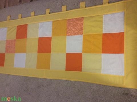 Patchwork falvédő, takaró narancs-citrom (kincsesmomka) - Meska.hu