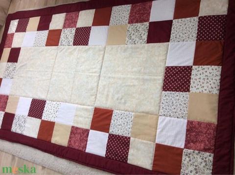 Patchwork falvédő, takaró barna-drapp-bordó (kincsesmomka) - Meska.hu
