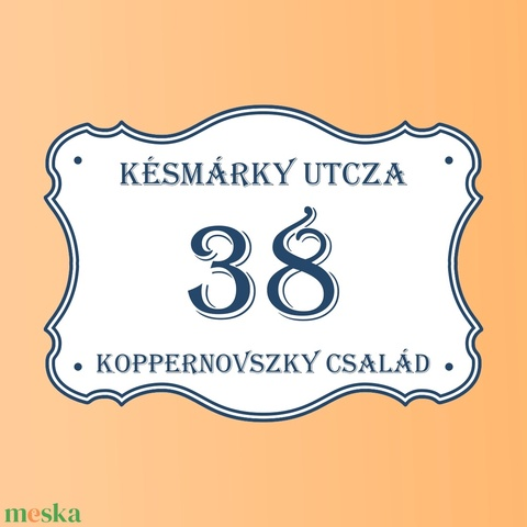 Házszámtábla- családi névvel (Kiokumitsu) - Meska.hu