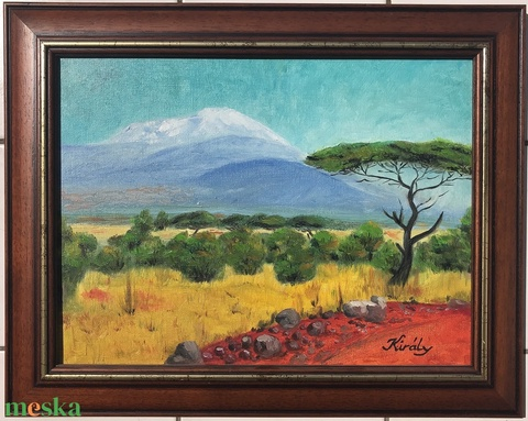 Kenya - olajfestmény (kiralygaleria) - Meska.hu