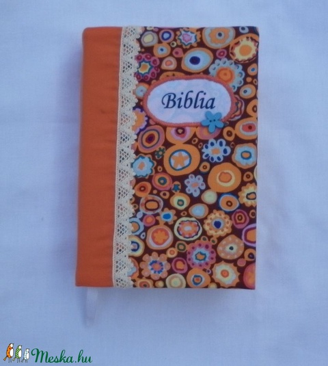 Bibliaborító - tarka, virágos - Meska.hu