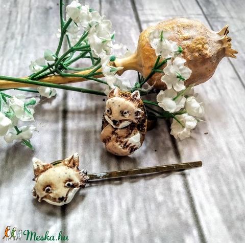 Vuk a kicsi róka, hajcsat, gyűrű szett - Meska.hu