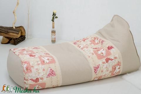 Rusztikus, vintázs stílusú babzsák fotel felnőtteknek és tiniknek, design babzsákfotel felnőtteknek, vintage babzsák - Meska.hu