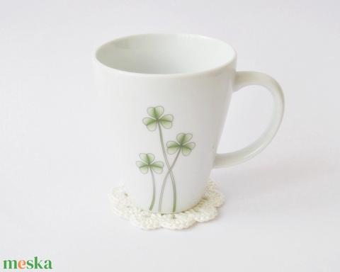 Horgolt virág, arctisztító korong, poháralátét szett 6 db - Meska.hu