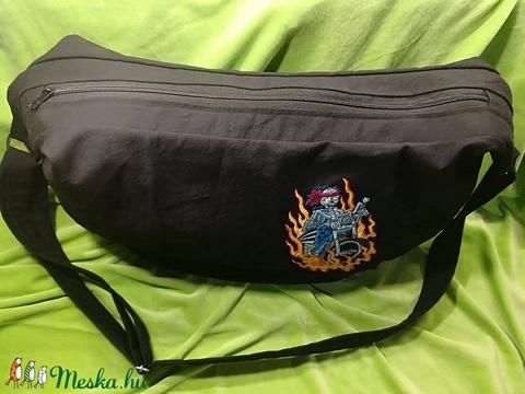 Hatalmas, hímzett farmer táska, amolyan big bag  - Meska.hu