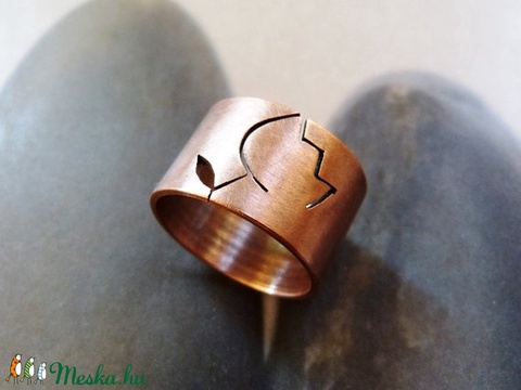 Tulipán réz gyűrű (széles, matt) (Kreagora) - Meska.hu