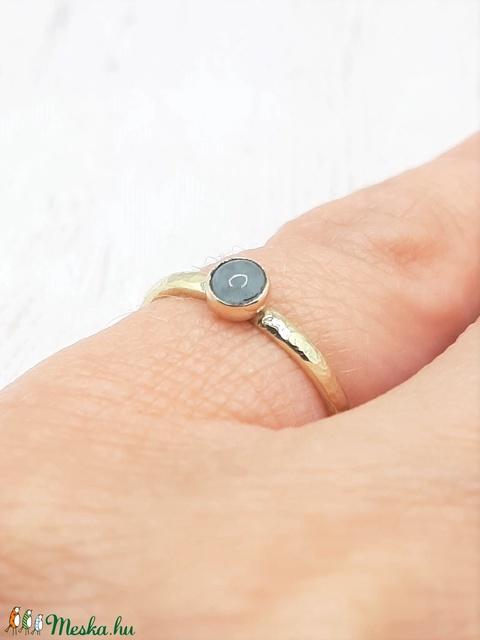 Akvamarin arany gyűrű  (14K) - Meska.hu