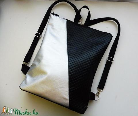 Ezüst - fekete hátizsák  (kreativvarazs) - Meska.hu