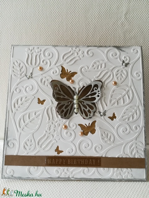 LEPKÉS- SZÜLETÉSNAPOS - 1 db képeslap: Happy birthday felirattal (KrisztaLAP) - Meska.hu