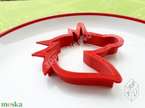 Tündéri unikornis sütikiszúró süteménykiszúró keksz linzer mézeskalács süteményszaggató 3D nyomtatás kiszúró forma (3DPrinting4U) - Meska.hu