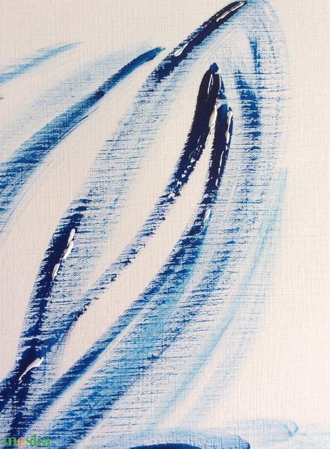 """""""Kék-árnyalatok""""- festmény (Krisztikmarti) - Meska.hu"""