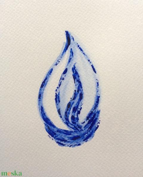 Kék 1-2-3 sorozat festmény - művészet - festmény - akril - Meska.hu