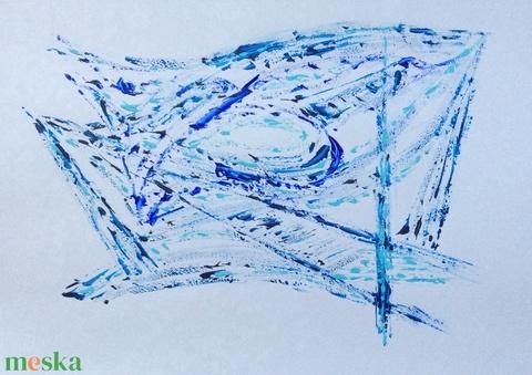 Kék formavilág - művészet - festmény - akril - Meska.hu