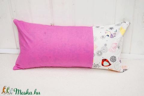 Párna  60x30cm   Rózsaszín, pink, magenta színben   Hímezhető - Meska.hu
