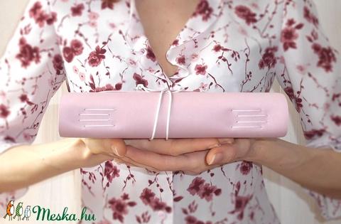 ' Szivárvány ' Antique Light Pink / Bőr Napló A5 (kunbea) - Meska.hu