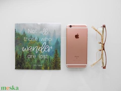 VÁNDOR mintás vastag anyagú mikroszálas törlőkendő szemüvegre, mobiltelefonra, tabletre (kunbea) - Meska.hu
