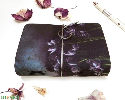 ' BLACK VALENTINE ' Puha Textil borítású Napló A6 (kunbea) - Meska.hu