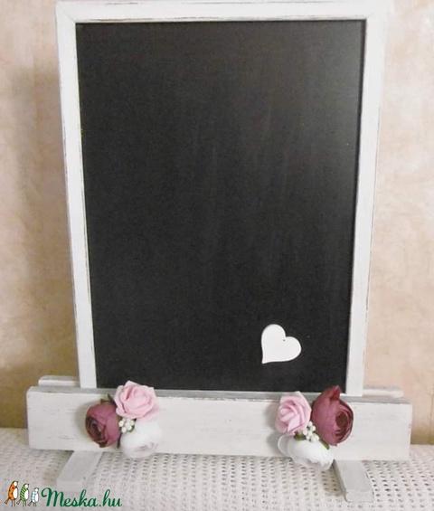 Vintage esküvői tábla - írható tábla - jelzőtábla - esküvői ültető tábla - menütábla (KyBarbi) - Meska.hu