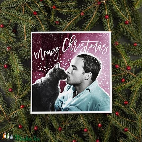 MIJAU vintage karácsonyi képeslap - Meska.hu