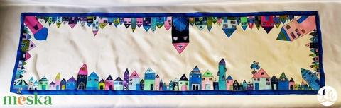 Hundertwasser ihlette selyemsál - kék (LauAni) - Meska.hu