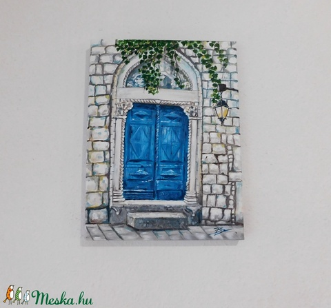 A múltnak kapuja - akril festmény - Meska.hu