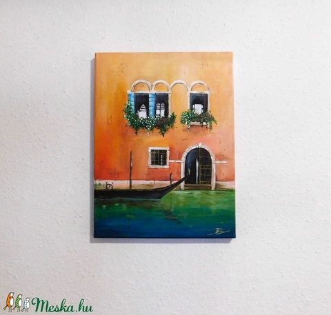 Velence - akril festmény - Meska.hu
