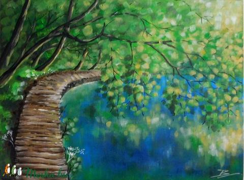 Plitvice - akril festmény - Meska.hu