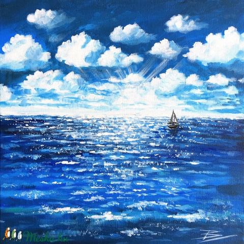 Nyílt tengeren - akril festmény - Meska.hu
