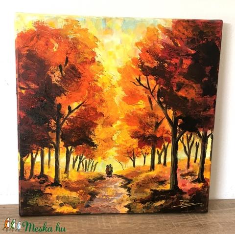 Őszi erdő - akril festmény (LaVoi) - Meska.hu