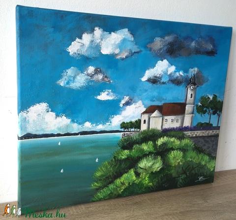 Tihany - akril festmény - Meska.hu