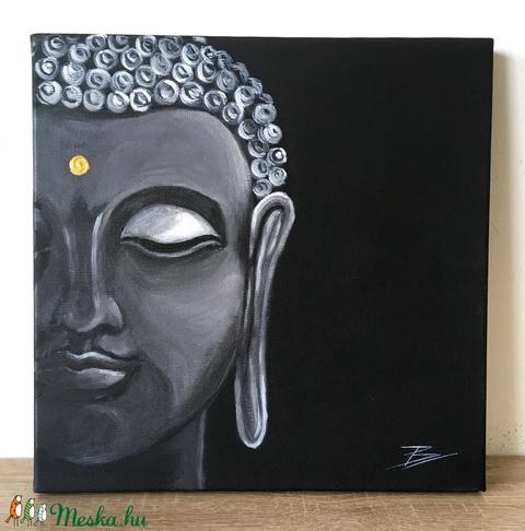 Buddha - akril festmény - Meska.hu