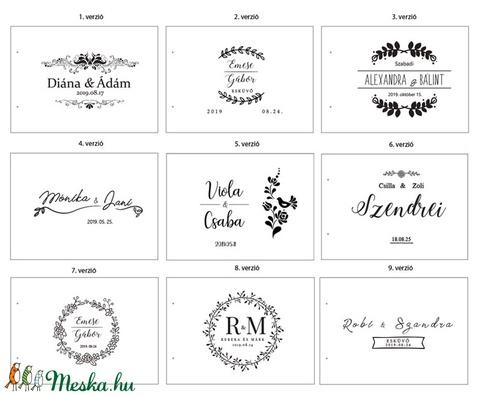 Alternatív vendégkönyv - A4-es méretben, fotóalbum, névre szóló album, esküvői fotóalbum, esküvői vendégkönyv (lfekete) - Meska.hu