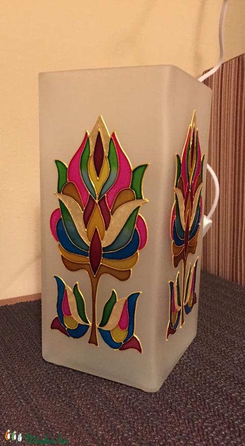 Asztali lámpa - tulipán - Meska.hu