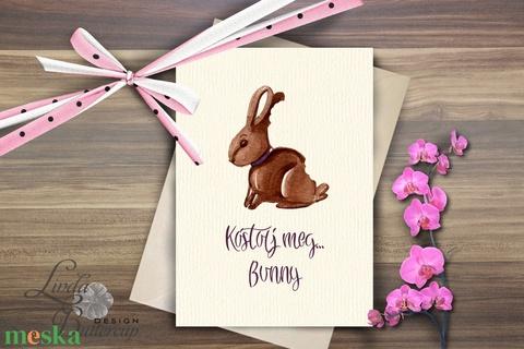 Húsvéti Képeslap, Vicces Húsvéti lap, Boldog Húsvétot, üdvözlőlap, Húsvéti Nyuszi, Nyúl, tojás, vicces - Meska.hu