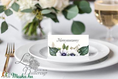Elegáns ültetőkártya, rusztikus esküvő, party kártya, vintage, Esküvői ültető, natúr, romantikus - Meska.hu